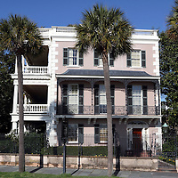 Edmondston-Alston House, Charleston, SC. A Federal styled mansion later transformed into the Greek Revival style. Confedrate General P.T. Beauregard viewed the bombardment of Fort Sumter from here and General Robert E. Lee stayed here during a visit when his hotel was threatened by a fire.