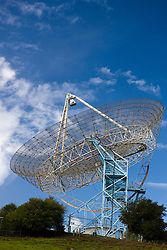 The Dish, part of radiotelescope with a 150 foot parabolic antennae used for astronomical observations, located in the Stanford Foothills on the campus of Stanford University, Stanford, California, United States of America.