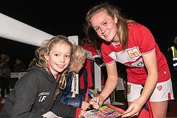 Heather Payne of Bristol City signs an autograph - Mandatory by-line: Paul Knight/JMP - 17/11/2018 - FOOTBALL - Stoke Gifford Stadium - Bristol, England - Bristol City Women v Liverpool Women - FA Women's Super League 1