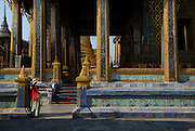 Wat Phra Kaew - Temple of the Emerald Buddha in the Dusit area of Bangkok.
