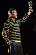 The Stone Roses lead singer, Ian Brown at the Benicassim Festival 2012