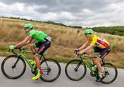 04.07.2017, Pöggstall, AUT, Ö-Tour, Österreich Radrundfahrt 2017, 2. Etappe von Wien nach Pöggstall (199,6km), im Bild v.l.: Kristijan Koren (SLO, Cannondale Drapac Professional Cycling Team), Sep Vanmarcke (BEL, Cannondale Drapac Professional Cycling Team) // Kristijan Koren of Slovenia (Cannondale Drapac Professional Cycling Team) Sep Vanmarcke of Belgium (Cannondale Drapac Professional Cycling Team) during the 2nd stage from Vienna to Pöggstall (199,6km) of 2017 Tour of Austria. Pöggstall, Austria on 2017/07/04. EXPA Pictures © 2017, PhotoCredit: EXPA/ JFK