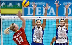 10-08-2014 NED: FIVB Grand Prix Belgie - Puerto Rico, Doetinchem<br /> Vilmarie Mojica, Lynda Morales