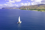 Catamaran, Leeward Coast, Oahu, Hawaii<br />