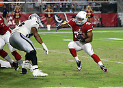 Arizona Cardinals rookie running back Elijhaa Penny (35) runs the ball during the 2016 NFL preseason football game against the Oakland Raiders on Friday, Aug. 12, 2016 in Glendale, Ariz. The Raiders won the game 31-10. (©Paul Anthony Spinelli)