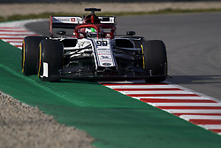 February 19, 2019 - Barcelona, Barcelona, Spain - Antonio Giovinazzi of Italy driving the (99) Alfa Romeo Racing C38during day two of F1 Winter Testing at Circuit de Catalunya on February 19, 2019 in Montmelo, Spain. (Credit Image: © Jose Breton/NurPhoto via ZUMA Press)