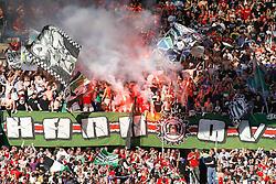 02.10.2011, AWD-Arena, Hannover, GER, 1.FBL, Hannover 96 vs Werder Bremen, im Bild jubel bei den 96 Fans  .// during the match from GER, 1.FBL, Hannover 96 vs Werder Bremend on 2011/10/02, AWD-Arena, Hannover, Germany. .EXPA Pictures © 2011, PhotoCredit: EXPA/ nph/  Schrader       ****** out of GER / CRO  / BEL ******