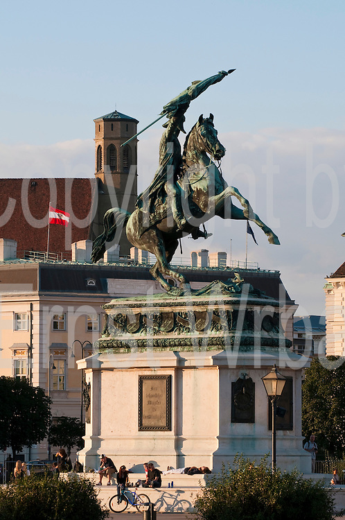 Erzherzog-Karl-Denkmal, Minoritenkirche, Heldenplatz,  Wien, Österreich.|.Erzherzog Karl memorial, Minoriten church, Vienna, Austria
