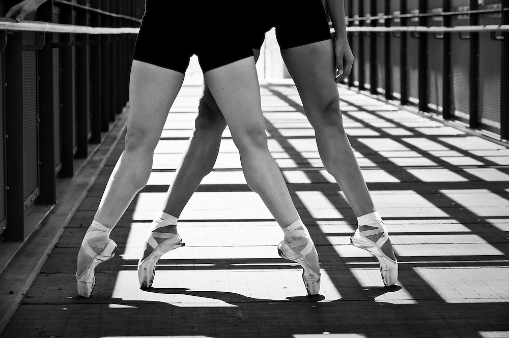 Ballerinas elevating to a Pointe.