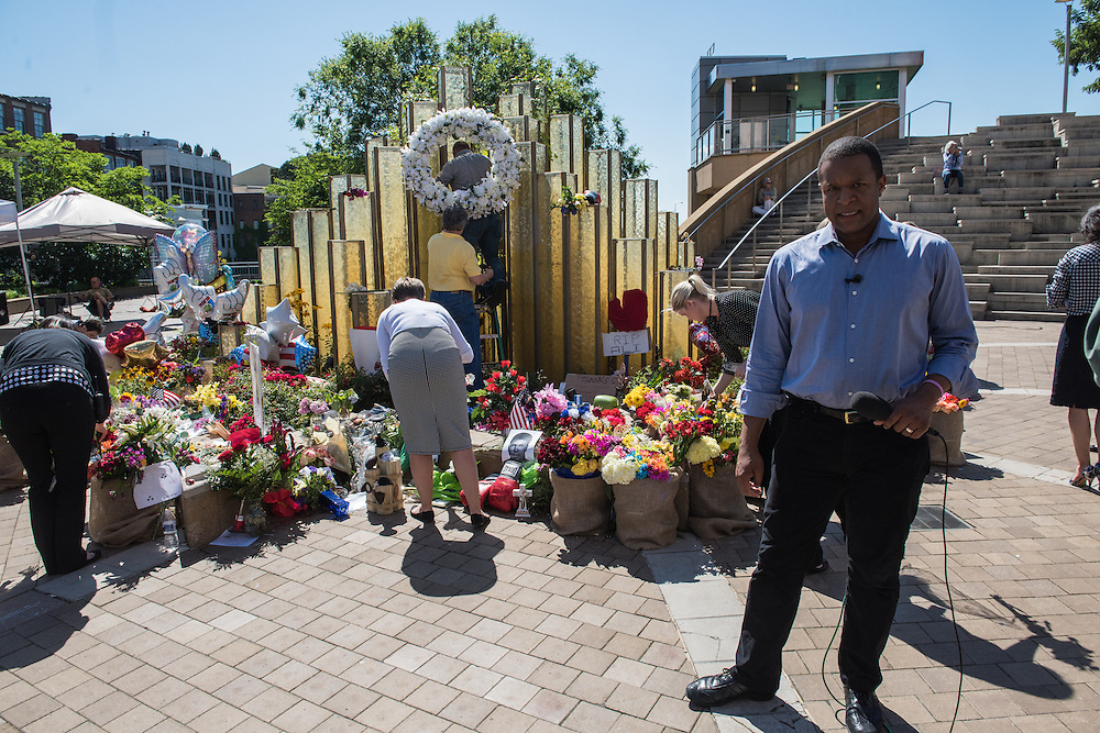 The scene at The Muhammad Ali Center, Monday, June 6, 2016, in Loiuisville, Ky. (Photo by Brian Bohannon)