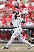 CINCINNATI, OH - JUNE 19: Jose Bautista #19 of the Toronto Blue Jays bats against the Cincinnati Reds at Great American Ball Park on June 19, 2011 in Cincinnati, Ohio. The Reds defeated the Blue Jays 2-1. (Photo by Joe Robbins) *** Local Caption *** Jose Bautista
