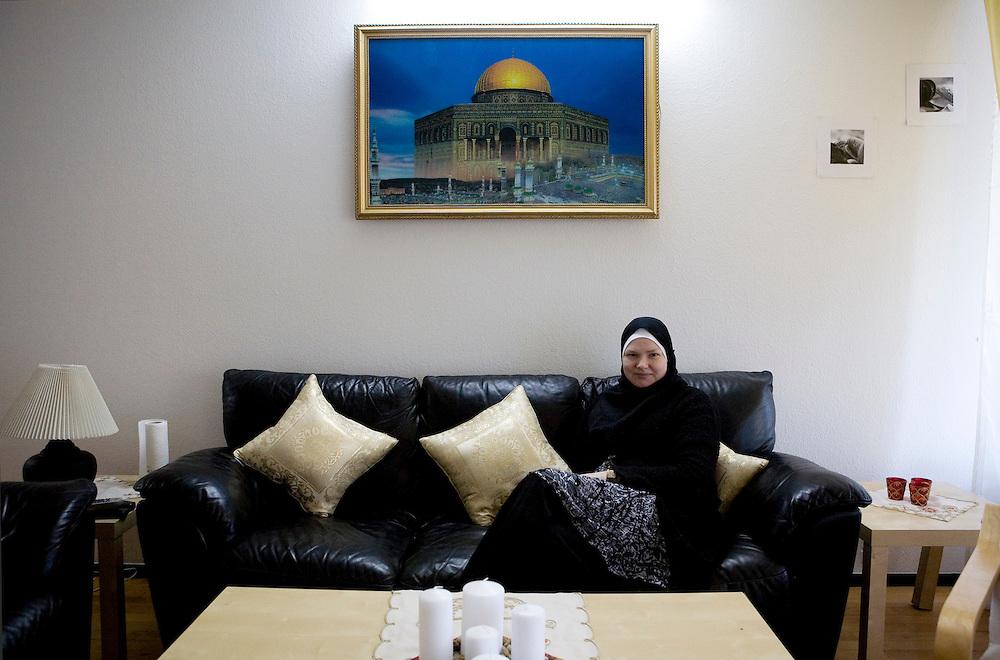 Arhus, Denmark, May, 2010.Charlotte, danish, converted to islam.