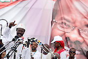 Convention People's Party (CPP) presidential candidate Paa Kwesi Nduom salutes the crowd during a rally in Accra, Ghana on Sunday September 21, 2008.