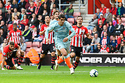 Alvaro Morata (29) of Chelsea on the attack during the Premier League match between Southampton and Chelsea at the St Mary's Stadium, Southampton, England on 7 October 2018.