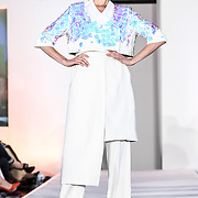 Designer Ilyes Ouali showcases at the London Arabia Art & Fashion Week 2019 at Jumeirah Carlton Tower, on 5 August 2019, London, UK.