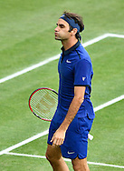 Roger Federer during the Mercedes Cup at Tennisclub Weissenhof, Stuttgart<br /> Picture by EXPA Pictures/Focus Images Ltd 07814482222<br /> 08/06/2016<br /> *** UK & IRELAND ONLY ***<br /> EXPA-EIB-160608-0095.jpg
