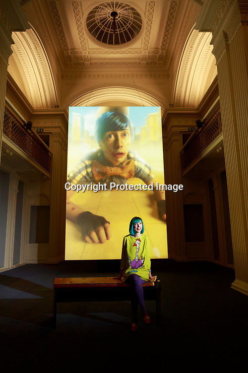 Edinburgh, Scotland 23rd February 2018.  Press call Talbot Rice Gallery display a new exbition UK premiere of Scotland's presentation at last year's Venice Biennale, Spite Your Face.                                                                                                                                        Pako Mera