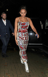 "Melanie Brown aka Mel B, is seen arriving at a private address, wearing a statement silver and red sequin dress, with the words ""I Am Not Sorry, I Am Not For Sale, I Am Not For Reproduction"" which she told snappers she had designed herself. The Spice Girl looked far from scary, as she smiled at the photographers. 27 Nov 2018 Pictured: Mel B, Melanie Brown. Photo credit: Will / MEGA TheMegaAgency.com +1 888 505 6342"