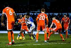 Ellis Harrison of Bristol Rovers is challenged by Abu Ogogo of Shrewsbury Town - Rogan/JMP - 03/02/2018 - FOOTBALL - Memorial Stadium - Bristol, England - Bristol Rovers v Shrewsbury Town - EFL Sky Bet League One.