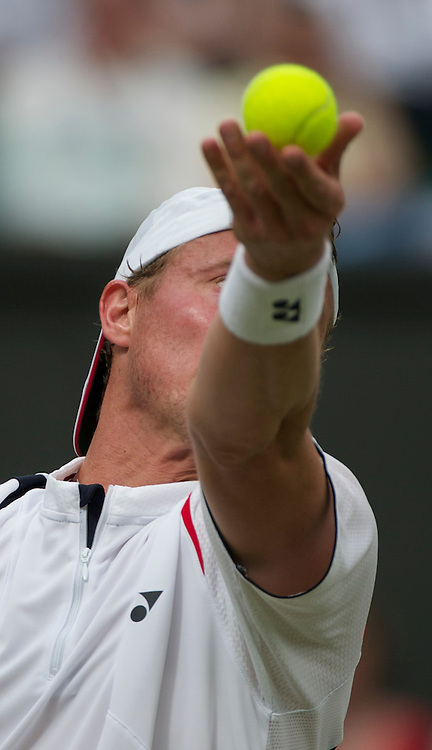 LONDON, ENGLAND - Thursday, June 23, 2011: Lleyton Hewitt (AUS) in action during the Gentlemen's Singles 2nd Round match on day four of the Wimbledon Lawn Tennis Championships at the All England Lawn Tennis and Croquet Club. (Pic by David Rawcliffe/Propaganda)