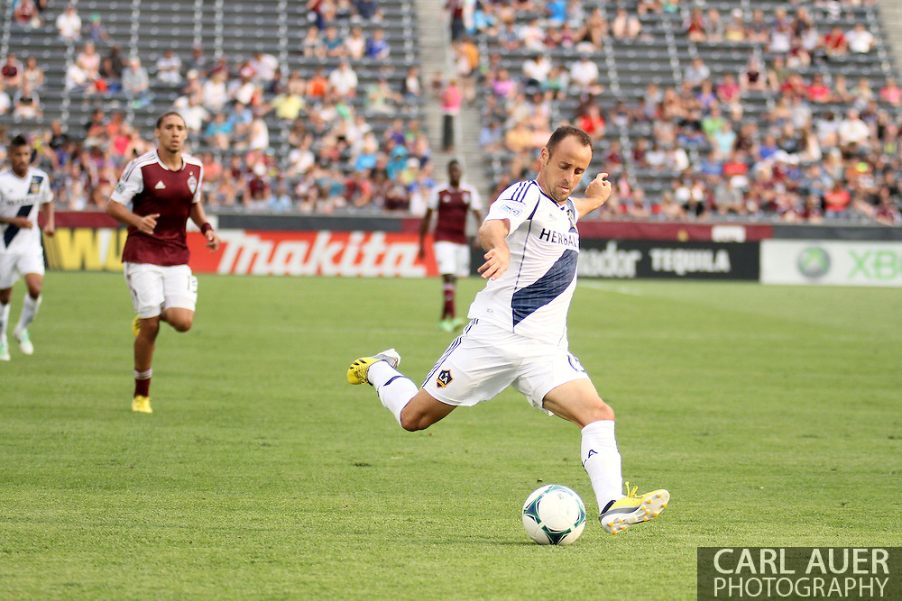 July 27th, 2013 - LA Galaxy midfielder Laurent Courtois (15) winds up for a shot in second half action of the Major League Soccer match between the LA Galaxy and the Colorado Rapids at Dick's Sporting Goods Park in Commerce City, CO