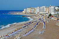 Grece, Dodecanese, Rhodes, ville de Rhodes, Plage de Rhodes // Greece, Dodecanese, Rhodes island, Rhodes city, the main beach