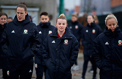 BOLOGNA, ITALY - Tuesday, January 22, 2019: Wales' Kylie Nolan during a pre-match walk at the team hotel in Bologna ahead of the International Friendly game against Italy. (Pic by David Rawcliffe/Propaganda)