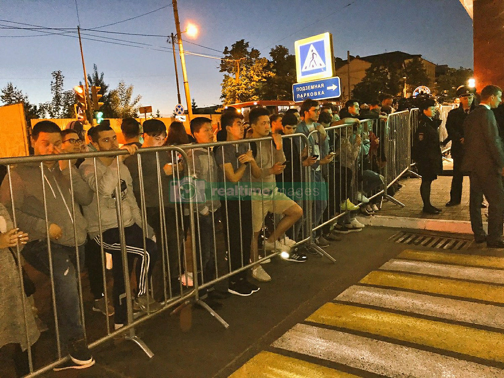 June 14, 2017 - Kazan, Russia - June 14, 2017. - Russia, Kazan. - Around 60 or so fans have gathered to welcome Cristiano Ronaldo & Co. to the Portugal team hotel in Kazan. Photo: twitter.com/mexicoworldcup (Credit Image: © Russian Look via ZUMA Wire)