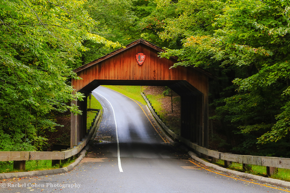 &quot;Pierce Stocking Covered Bridge&quot;<br /> <br /> Beautiful early autumn in a light rain, at the covered bridge on Pierce Stocking Scenic Drive!