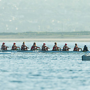 01 April 2017: The SDSU Aztecs women's rowing team seen here participating in the San Diego Crew Classic held on Mission Bay.