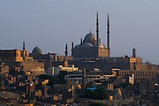 View of the Citadel and Mohammed Alì mosque from Al-Azhar park. Located in the heart of old historic Cairo with stunning panoramic views, offers  landscaped gardens. Born in a degraded area is now a popular for the Cairo's holiday days.