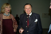 BARRY HUMPHRIES; LIZZIE HUMPHRIES, Dinner at the Museum der Moderne. Salzburg.  Amadeus Weekend. Salzburg. 23 August 2008.  *** Local Caption *** -DO NOT ARCHIVE-© Copyright Photograph by Dafydd Jones. 248 Clapham Rd. London SW9 0PZ. Tel 0207 820 0771. www.dafjones.com.
