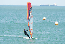© Licensed to London News Pictures. 30/05/2019.<br /> Sheerness ,UK. Windsurfer in action. Warm sunny weather today as people enjoy a hot day at Sheerness-on-sea in Kent. This weekend is set to be the hottest of the year with forecasters predicting the UK to be warmer than Ibiza. Photo credit: Grant Falvey/LNP