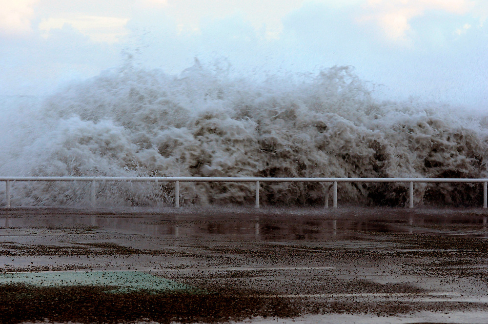 Storm Waves at Nice, Promenade Anglais, France 10-6-2010