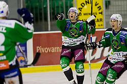 Andrej Hebar (HDD Tilia Olimpija, #84) during ice-hockey match between HDD Tilia Olimpija and EC Red Bull Salzburg in 13th Round of EBEL league, on October 17, 2010 at Hala Tivoli, Ljubljana, Slovenia. (Photo By Matic Klansek Velej / Sportida.com)