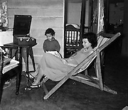 Barbara Rulach in deck chair. Pictures by Bertram Rulach