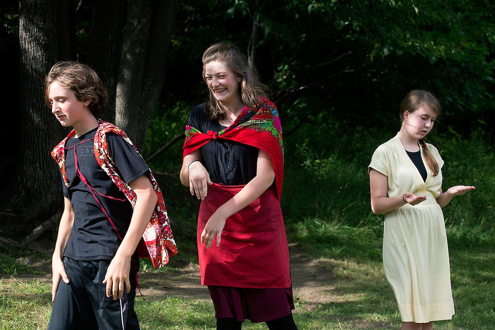"Performance of ""Romeo and Juliet"" by the Chelsea Funnery in Tunbridge, Vt., on July 25, 2015. (Photo by Geoff Hansen)"