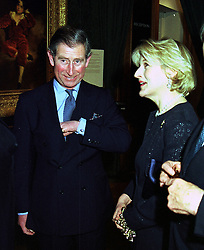HRH The PRINCE OF WALES and his divorce lawyer MRS IAN SHACKLETON, at an exhibition in London on 17th January 2000.OAC 27 2olo