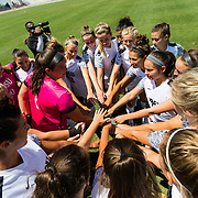 20 August 2017: The San Diego State women's soccer team hosts UC Davis in it's first home match of the season. The Aztecs beat the Aggies 1-0 and gave head coach Mike Friesen his 123 career victory at SDSU and the all time winningest coach for women's soccer at San Diego State. <br /> www.sdsuaztecphotos.com