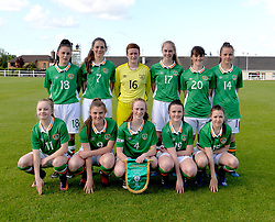 Republic of Ireland U16 that lined out against Lithuania at Solar 21 Park, Mayo.<br /> Pic Conor McKeown