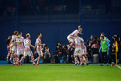 Croatian team celebrate during the football match between National teams of Croatia and Greece in First leg of Playoff Round of European Qualifiers for the FIFA World Cup Russia 2018, on November 9, 2017 in Stadion Maksimir, Zagreb, Croatia. Photo by Ziga Zupan / Sportida