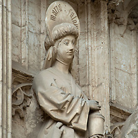 Statue of Santa Maria Salome outside the Cathedral of Toledo, Spain.