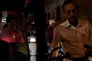 Peak hour in Varanasi, India.