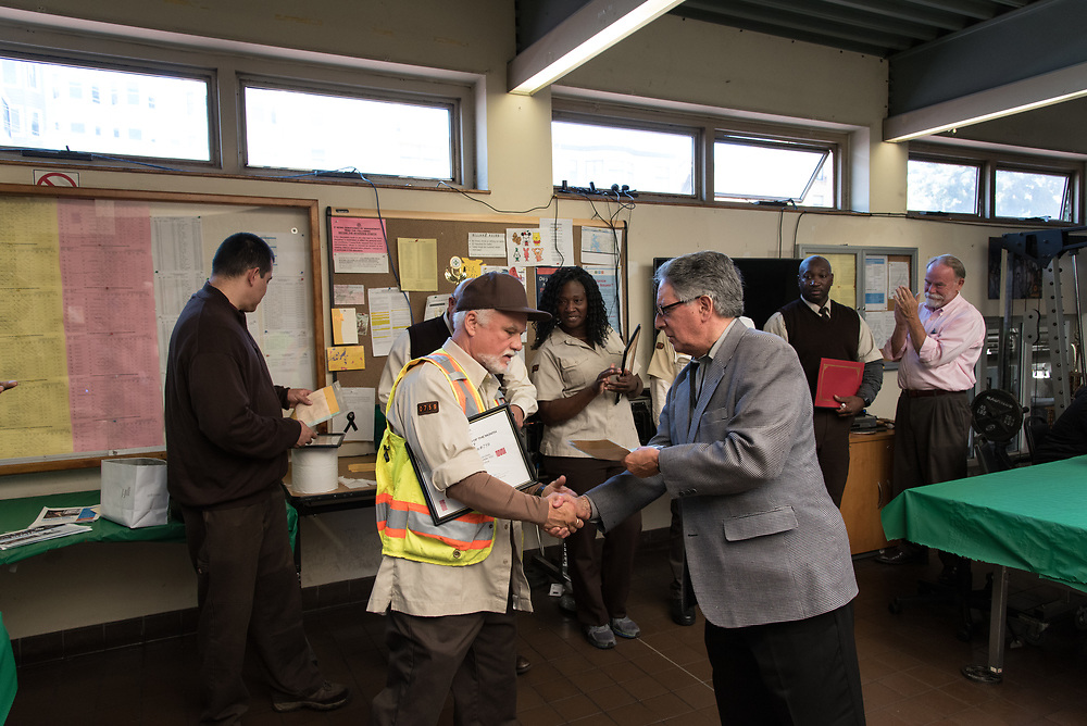 June Awardee William Johnson at Cable Car Division Systemwide Operator of the Month | July 28, 2017