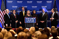 One week ahead of the U.S. General Elections Republican presidential candidate Donald Trump and Vice-presidential candidate Mike Pence deliver a health care policy speech, in Kin of Prussia, PA., in the Philadelphia Suburbs, on November 1, 2016