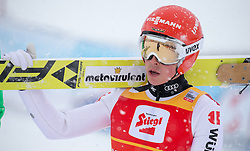 31.01.2016, Casino Arena, Seefeld, AUT, FIS Weltcup Nordische Kombination, Seefeld Triple, Skisprung, Wertungssprung, im Bild Eric Frenzel (GER) // Eric Frenzel of Germany after the Competition Jump of Skijumping of the FIS Nordic Combined World Cup Seefeld Triple at the Casino Arena in Seefeld, Austria on 2016/01/31. EXPA Pictures © 2016, PhotoCredit: EXPA/ Jakob Gruber