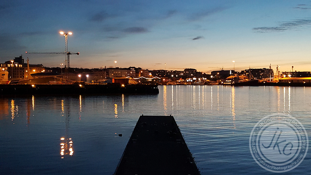 Sunset at Reykjavick's Old Harbour Pier