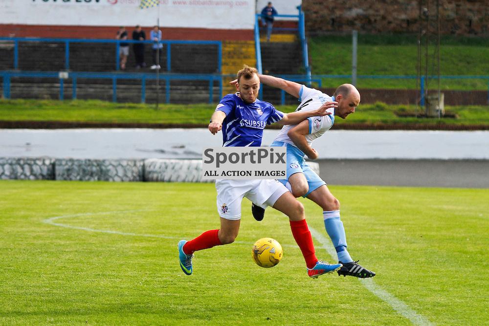 Cowdenbeath FC V Forfar Athletic, Scottish League 1, 19th September 2015<br /> <br /> Cowdenbeath FC V Forfar Athletic, Scottish League 1, 19th September 2015<br /> <br /> COWDENBEATH #9 GREIG SPENCE WITH FORFAR #3 IAIN CAMPBELL
