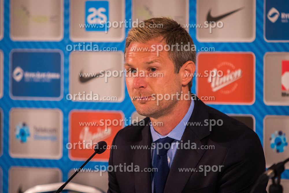 Magnus Pehrsson, head coach of Estonia after the EURO 2016 Qualifier Group E match between Slovenia and Estonia at Ljudski vrt on September 8, 2015 in Maribor, Slovenia. Photo by Ziga Zupan / Sportida
