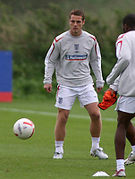 Photo: Paul Thomas.<br /> England Training. 06/10/2006.<br /> <br /> Scott Parker.